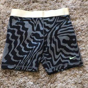 "Nike Girls Pro 3"" Zebra Printed Shorts-NEW"